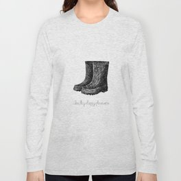 Rainboots Doodle Long Sleeve T-shirt