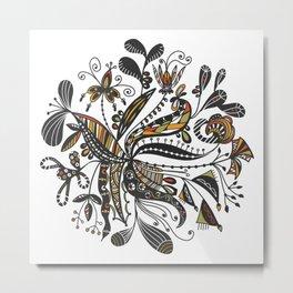Blooming Doodles Metal Print