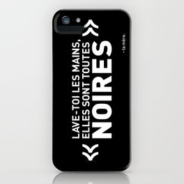 Mains noires iPhone Case