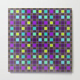 Plaid multi colored 1 Metal Print