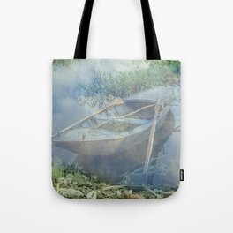 Lonely again in the fog Tote Bag