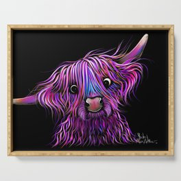 HiGHLaND CoW PRiNT SCoTTiSH ' HuCKLeBeRRY ' BY SHiRLeY MacARTHuR Serving Tray