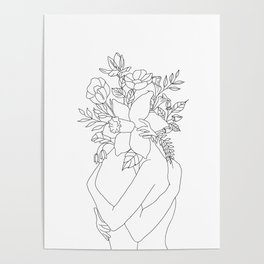 Blossom Hug Poster