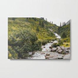 Mountain Stream Photo   Austria Travel Photography   Waterfall In Austria Metal Print