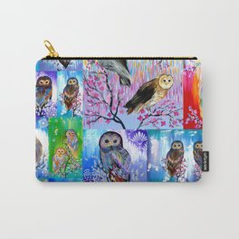 abstract owls Carry-All Pouch