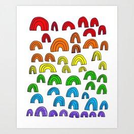 Rainbow Meta Art Print