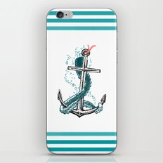 Anchor and Tentacle (Riso edition) iPhone & iPod Skin