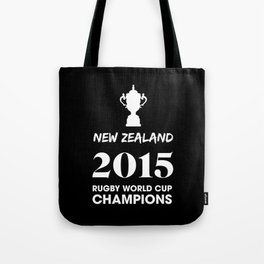 New Zealand 2015 Rugby World Cup Champions Tote Bag