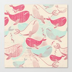 Whale ReUnion Canvas Print