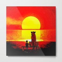 Stay Watch Sunset Metal Print
