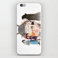 hayao miyazaki iPhone & iPod Skins featuring Hayao Miyazaki's Family by Naineuh
