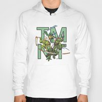 tmnt Hoodies featuring TMNT by Ryan Liebe