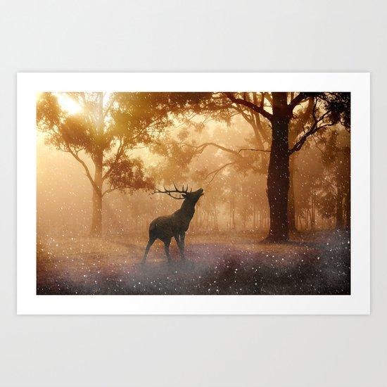 Dear my golden velvet  Art Print
