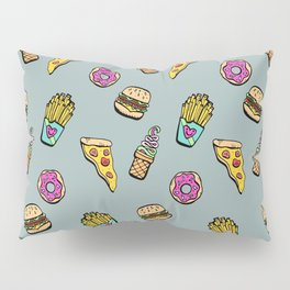 Fast Food Heaven Illustrated Pattern Pillow Sham