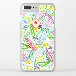 Spring High Tea Clear iPhone Case