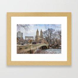 Bow Bridge, Central Park, NYC Framed Art Print