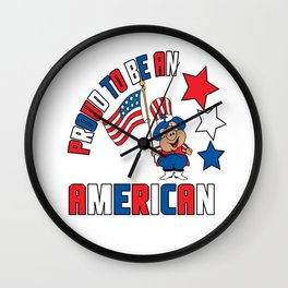 Proud to be an American Wall Clock