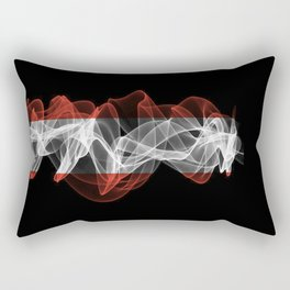 Austria Smoke Flag on Black Background, Austria flag Rectangular Pillow