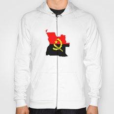 Angola flag map Hoody