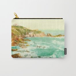 Watercolor Ocean Scene Carry-All Pouch