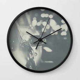 City Traffic in black and white Wall Clock