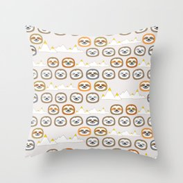 The Slothful Ones Throw Pillow
