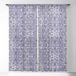 Midnight Flowers Sheer Curtain