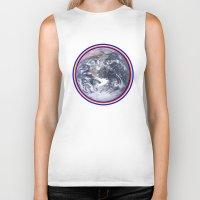 earth Biker Tanks featuring Earth by Spooky Dooky