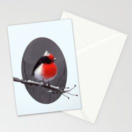 Bird in the snow Stationery Cards