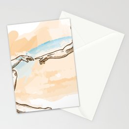 Creation of Adam watercolor hand drawn Stationery Cards