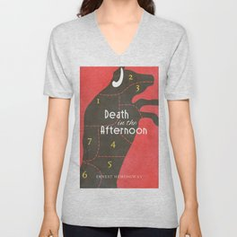 Death in the Afternoon, Erenst Hemingway, book cover, classic novel, bullfighting stories, Spain Unisex V-Neck