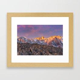 First Light on Mount Whitney Framed Art Print
