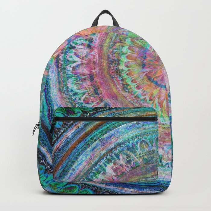 Pink and Turquoise Mandala Backpack