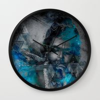 hindu Wall Clocks featuring Krishna The mischievous one - The Hindu God by sarvesh
