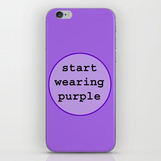 Start Wearing Purple iPhone & iPod Skin