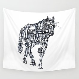 mechanical horse Wall Tapestry