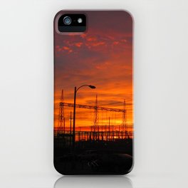 Electricial Sunset iPhone Case