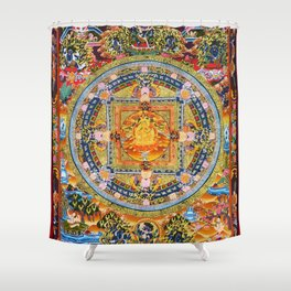 Mandala Buddhist 2 Shower Curtain