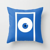 monsters inc Throw Pillows featuring Monsters inc (no title) by Citron Vert
