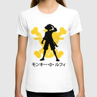 luffy T-shirts featuring Monkey D. Luffy by KerzoArt