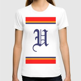 MONOGRAM U RED BORDER T-shirt