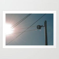 Laundry Pole with Sun Art Print
