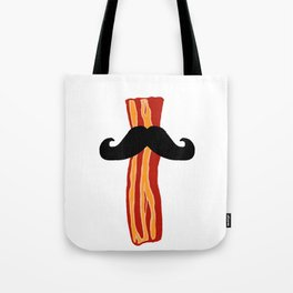 Bacon Stache Tote Bag