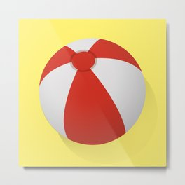 Summer Beach Ball Metal Print