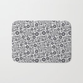 Pattern with the image of bigfoot car Bath Mat