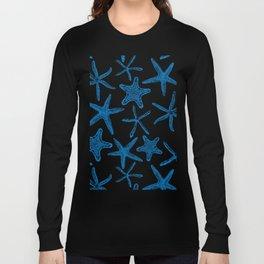 Sea stars in blue Long Sleeve T-shirt