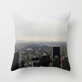 Grey Clouds over Central Park, NYC Throw Pillow