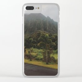 Rustic Mountains Clear iPhone Case