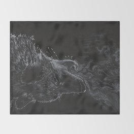 Wolf - The Uneasy Chill Throw Blanket