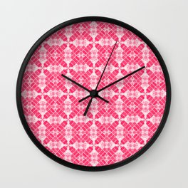 Pink Quilt Wall Clock